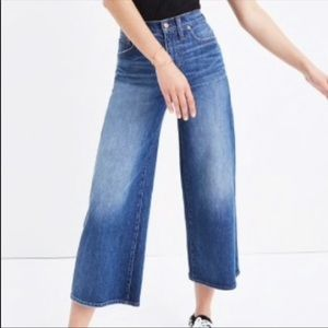 Madewell Wide Leg Crop Jeans - Size 25
